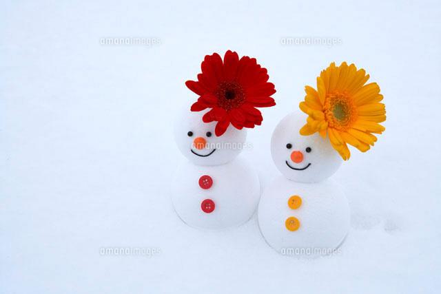 花と雪だるまのカップル (c)Doable/a.collectionRF