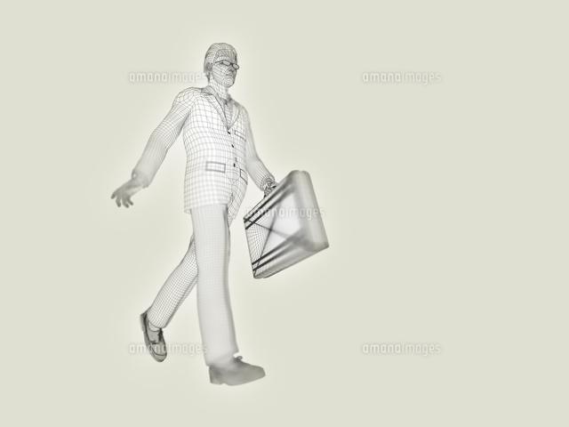 ワイヤーフレームのビジネスマン (c)Hajime Ishizeki/a.collectionRF