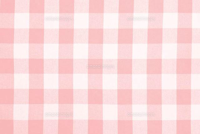 ピンク色のギンガムチェック柄[10297000022]| 写真素材・ストック ...