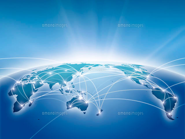 世界地図のネットワーク