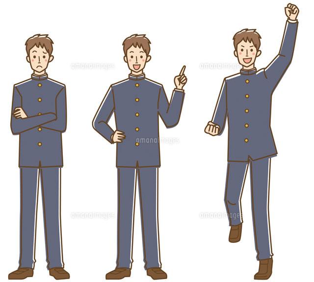 男子学生3パターン (c)GOKU/a.collectionRF