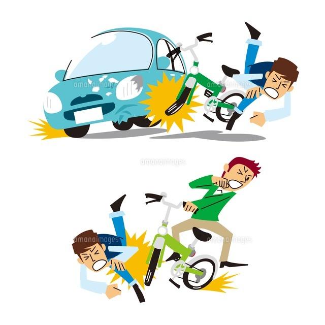 の事故、自転車と歩行者の事故