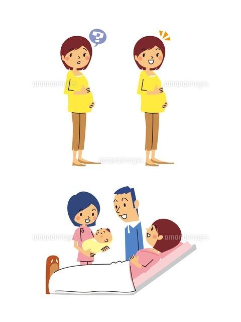 産婦人科/妊婦(疑問、解決)分娩士が乳児を抱える (c)GOKU/a.collectionRF