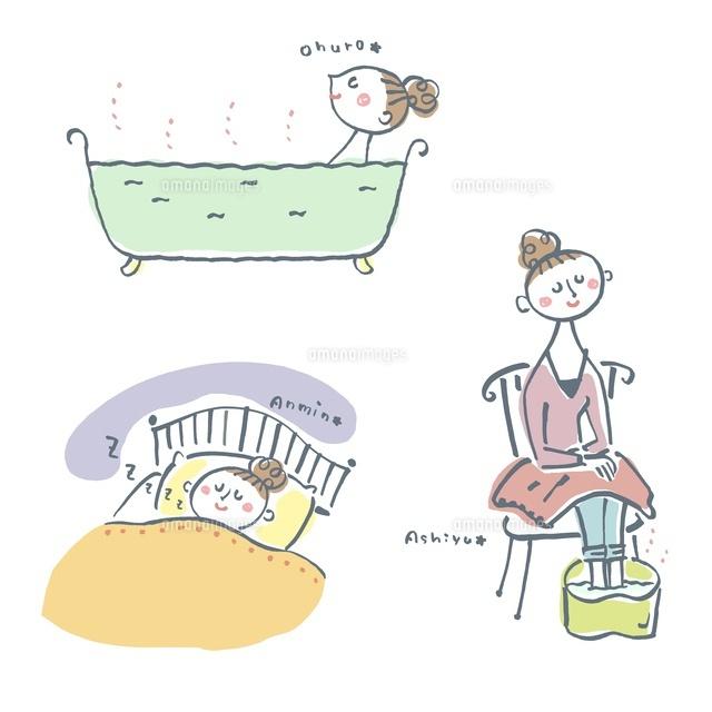 温浴、足湯、快眠、女性 (c)hamatoko/GOKU/a.collectionRF