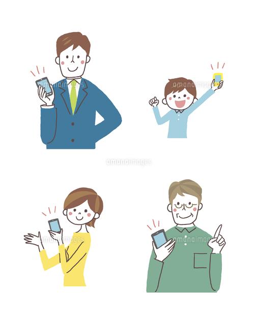 スマートフォンと人 (c)GOKU/a.collectionRF