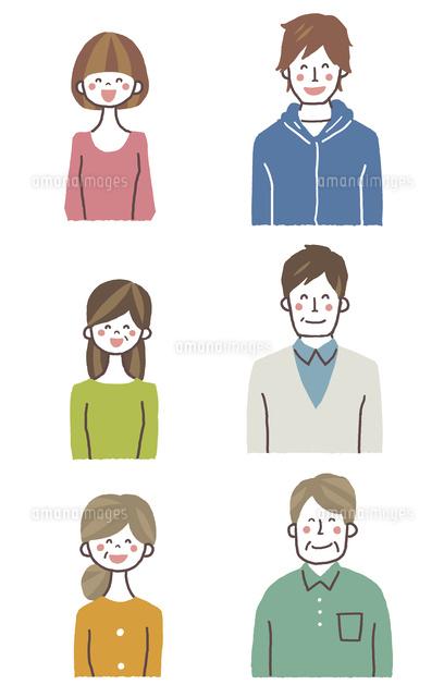 家族バストアップ(笑顔) (c)GOKU/a.collectionRF