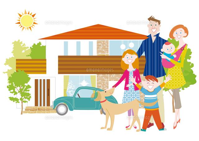 マイホームと家族と犬 (c)Yuka Koseki/a.collectionRF