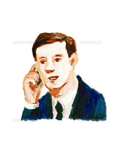 携帯電話で話すビジネスマン (c)asterisk/a.collectionRF