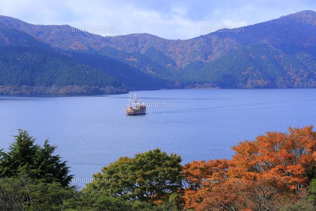 恩賜箱根公園より望む秋の芦ノ湖と遊覧船 (c)YANSHIN/a.collectionRF