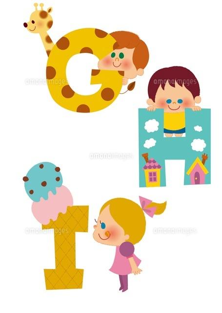アルファベットGHIと子供たち (c)aque/a.collectionRF