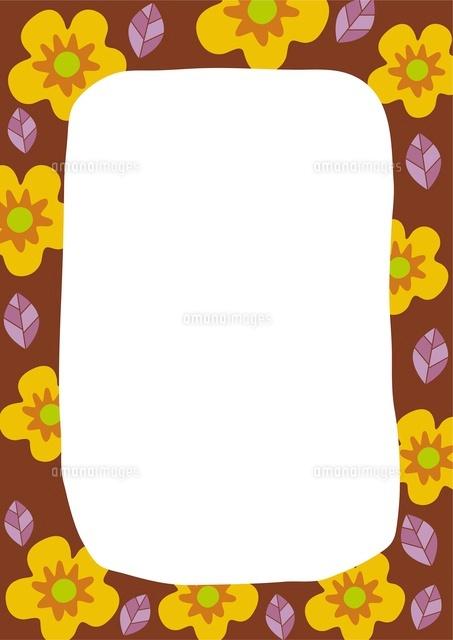 黄色い花のフレーム (c)aque/a.collectionRF