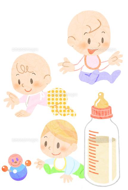 おもちゃで遊ぶ赤ちゃんといろんな動作の赤ちゃん (c)Kentaro Nakamura/a.collectionRF