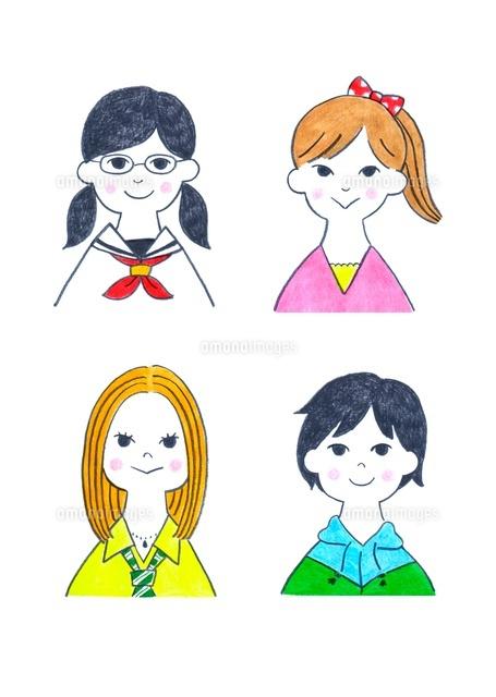 様々なタイプの10代の女の子4人 (c)Eri Takenaga /a.collectionRF
