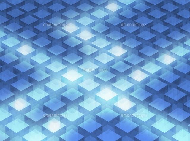 キューブのパターン(青) CG (c)YEP/a.collectionRF