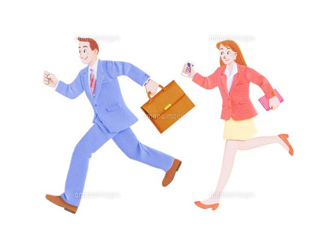 走るビジネスマンとOL (c)KATSUHIKO YAMAGISHI/a.collectionRF