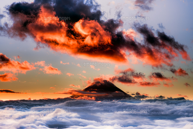 雲海と富士山