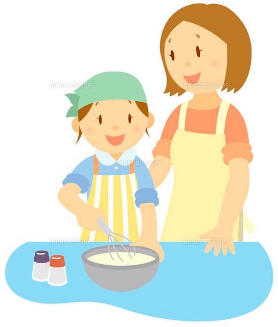 料理をする親子8 - No: 491|写真素材なら「写 …