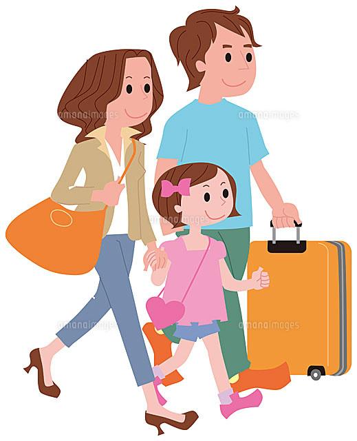 旅行に出発する家族[11002054742...