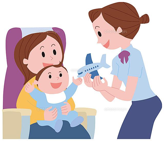 赤ちゃんをあやすフライトアテンダント (c)SOURCENEXT CORPORATION