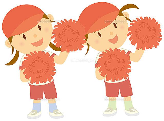 運動会でダンスを披露する二人 ... : 幼児 本 : 幼児