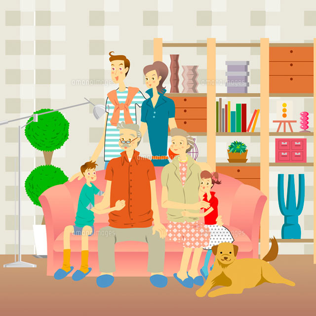 family gethering in the living room (c)IMAGEMORE
