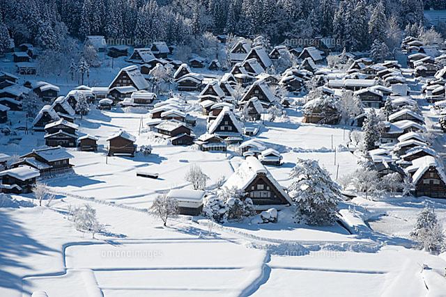 「白川郷 冬」の画像検索結果
