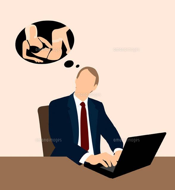Businessman dreaming of a woman (c)Ralf Hiemisch/fStop