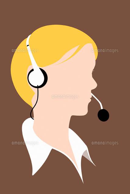 A person wearing a telephone headset (c)Ralf Hiemisch/fStop