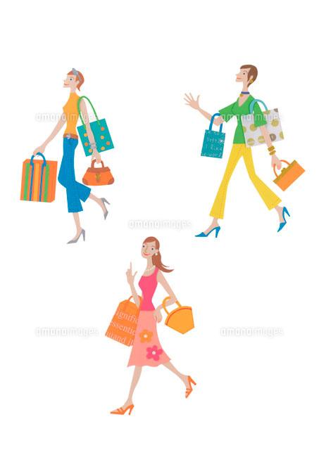 買い物をする3人の女性 クラフト (c)visual supple