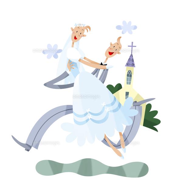 教会と新郎新婦 (c)イメージナビ