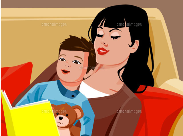 Mother reading book to son (c)Greg Paprocki