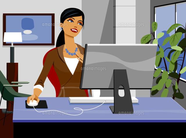 Businesswoman using computer (c)Greg Paprocki