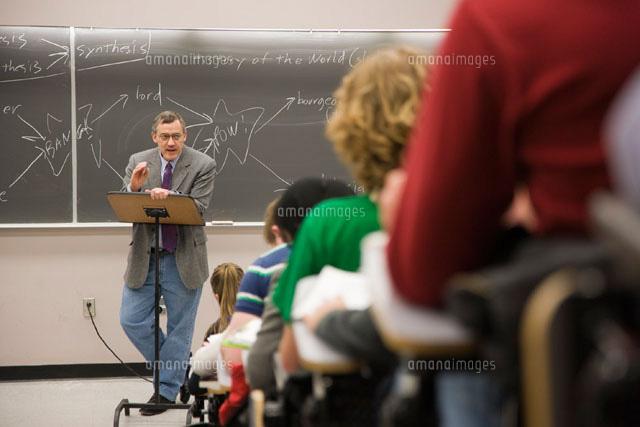 Professor in Classroom (c)Radius Images