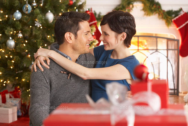 Portrait of Couple at Christmas