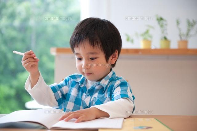 勉強をする男の子 (c)didi