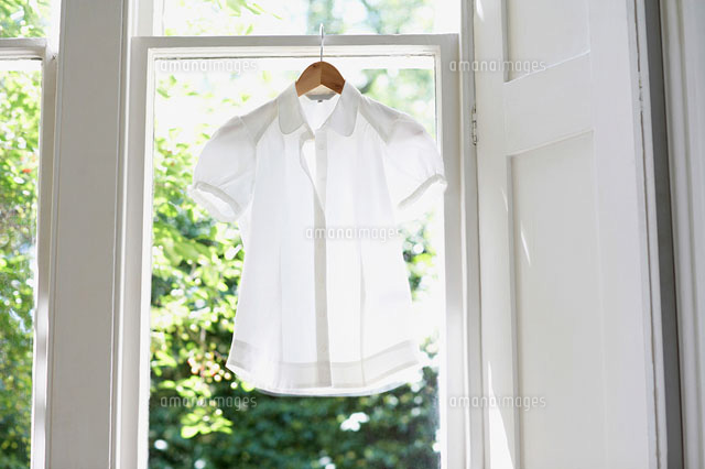 Blouse on Hanger in domestic window