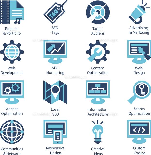 SEO and internet optimization icon set. Isolated vector illustration (c)Ingram Image