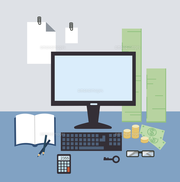 bank employee  illustration. Flat modern style vector design (c)Ingram Image