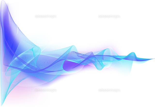 Vector illustration - abstract background made of color splashes and curved lines (c)Ingram Image