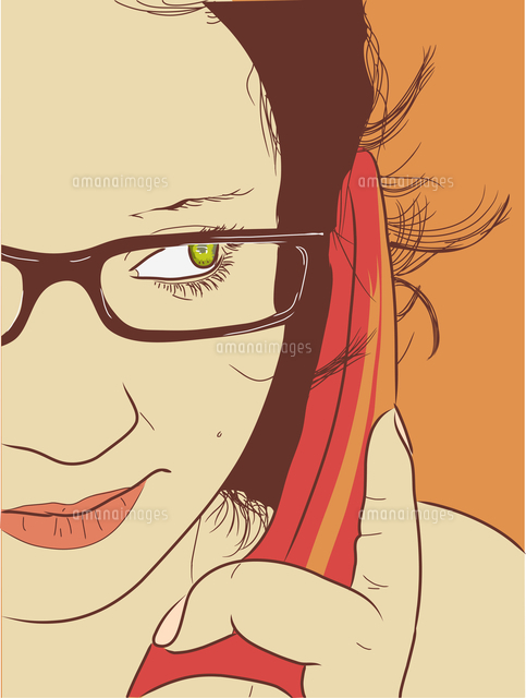 Vector illustration - Young woman chatting on the phone. (c)Ingram Image