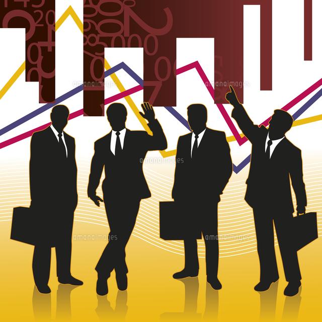 Businessmen silhouettes on conceptual background (c)Ingram Image