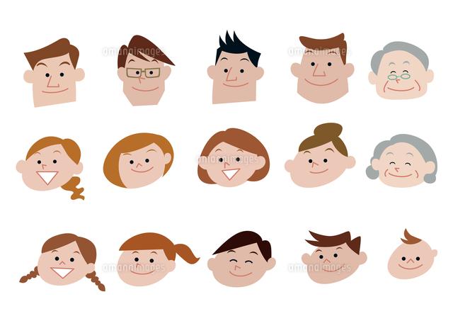 家族、親子、三世代家族の顔バリエーション (c)Yuka Koseki/a.collectionRF