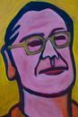 メガネをかけた男性の顔のイラスト