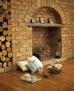 暖炉、クッション、毛糸、編物