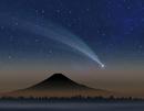 彗星と富士山