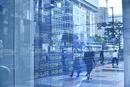 株価を表示する電光掲示板