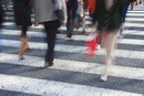 横断歩道と歩行者