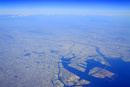 東京湾と東京都心部の空撮