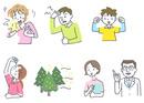 イラスト 杉花粉の症状