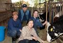 酪農家の家族